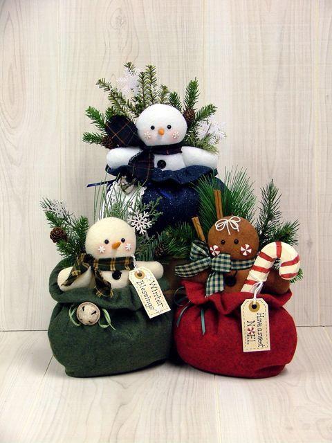Cumprimentos das estações (boneco de neve, pão de gengibre)