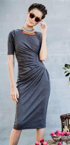 loving this #grey midi dress http://rstyle.me/n/jvr3hr9te