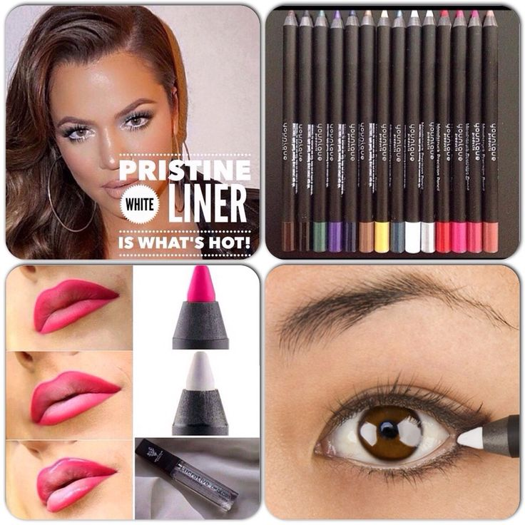 Did you know by using our Pristine white eye pencil on your waterline will brighten your eyes and make them pop?!?! You can also use Pristine on your lips with a color liner and gloss to create an ombré look these are beauty tips on trend in 2015! Create your look and get your Pristine eye pencil, Loyal clear, silky gloss and any of our 5 bold lip color pencils at www.getyourmascara.com