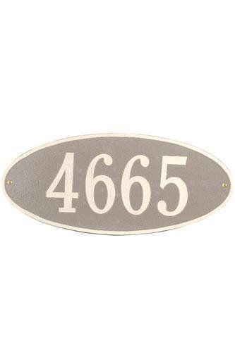 Oval One-Line Standard Wall Address Plaque - standard/1 line, Beige by Home Decorators Collection. $125.00. Oval One-Line Standard Wall Address Plaque - It's Your Own Little Corner Of The World - So Why Not Mark It With Pride? A House Sign Announces A Message Of Distinction. These Premium, Textured And Dimensional Address Plaques Are Designed With Large Letters And Numbers For Maximum Visibility. Choose From Our Exceptional Array Of Custom Address Plaques To Find The...