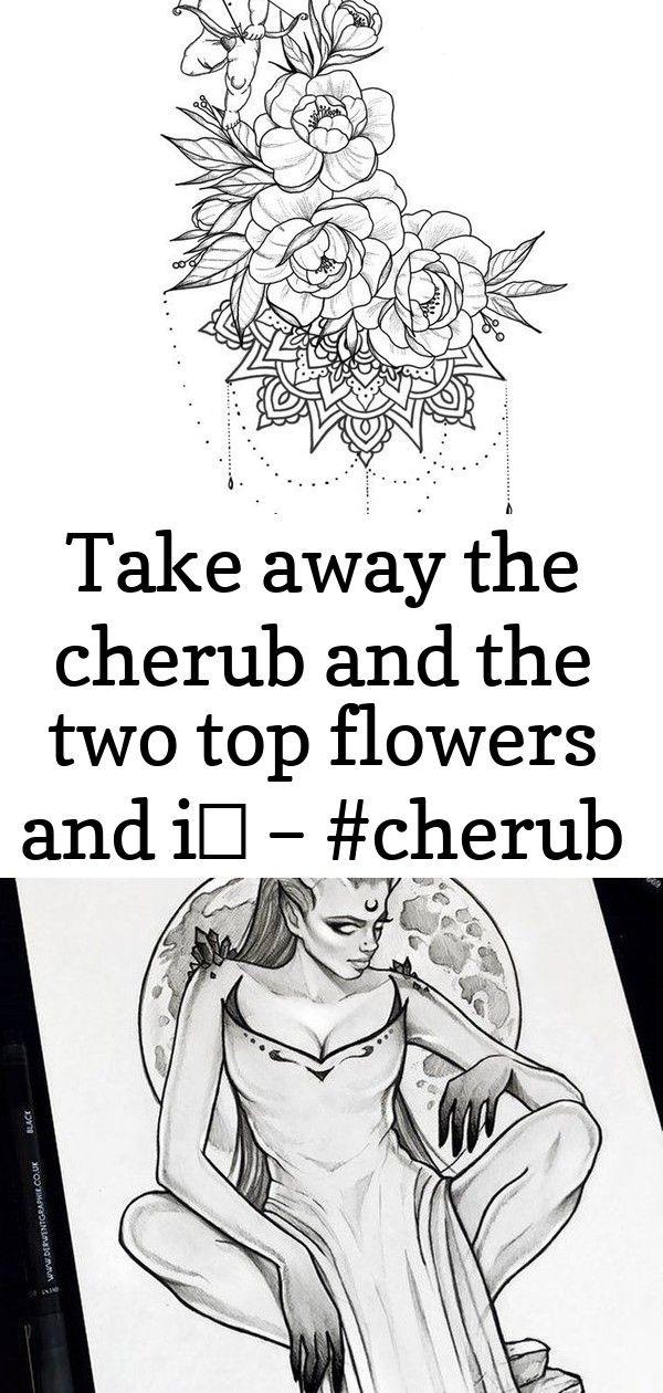 Take away the cherub and the two top flowers and i… – #cherub #flowers #geisha… #tattoos – #cherub 9