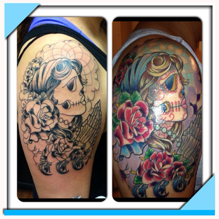 My b4 and after !!!  Mi Santa Muerte !!!!
