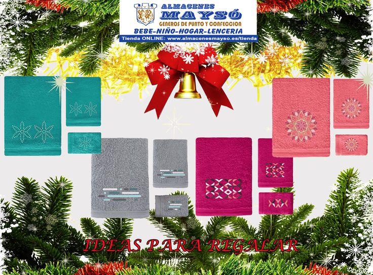 IDEAS PARA #REGALAR! Un bonito #regalo para esta #Navidad como un juego de toallas de calidad. Elige el color que mas te guste. #tiendaonline : www.almacenesmayso.es/tienda #shoponline #textilhogar #ropabebé #complementosbebé #lenceria #ropamujer #ropahombre #ropaniños #ropaniña #regalosnavidad #regalosoriginales #toallas #juegodetoallas