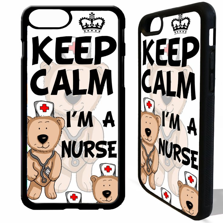 Excited to share the latest addition to my #etsy shop: Keep calm i'm a nurse cartoon cute quote cover case cover for iphone 4 5 5s 6 6s 7 8 8 plus X #nurse #nursing #keepcalmnurse #keepcalm