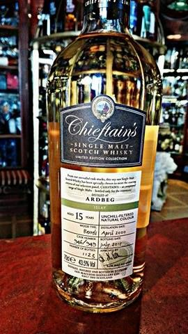 Ardbeg 15-Years-Old from Chieftain's  Sellection  #whisky #ardbeg #distillery #chieftain #independentbottler #islay #scotch