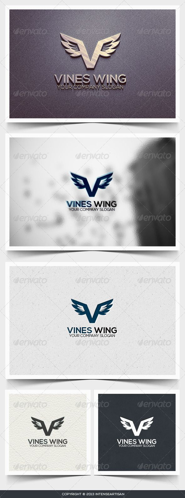 Vines Wing Logo Template (Letters)