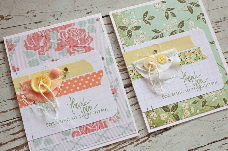 Mish Mash: Thank you cards....using artificial flower petals