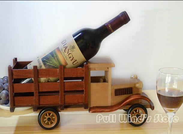 Creative Wooden Car Wine Racks Classical Wooden Wine Racks Personalized Fashion decoration Office decoration