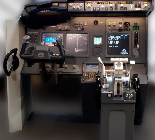 For around the price of a second hand car, you can buy a fully equipped single seat 'desk' which delivers all the controls you'll need to project yourself into a Boeing 737 aircraft.