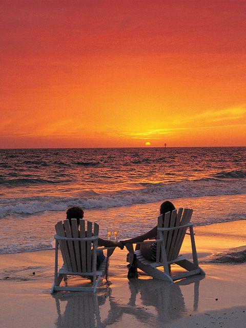 Peace.. Romantic sunset on the beach***