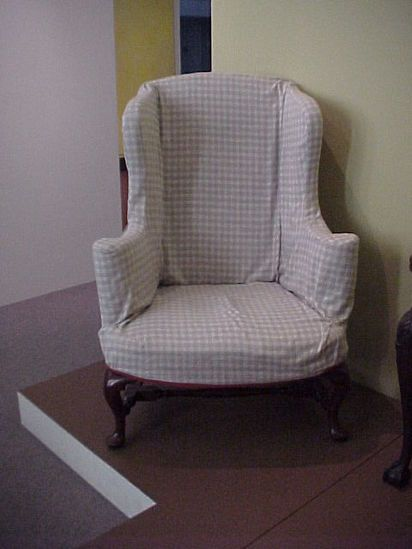 Queen Anne Style Wing Chair Pad Feet And Cabriole Leg Quot A