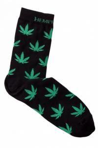 Skarpetki męskie w liście konopi (marihuana)