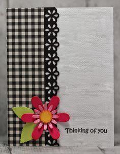 Resultado de imagen para tarjetas hechas a mano con flores daysi                                                                                                                                                                                 Más
