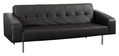 Covered in soft faux leather, and fitted with slim line legs, the Athens is a generously padded sofa is easy to convert into a two-person bed. Simply push forward to release the back down into a horizontal position, the stylish place to sit is now a comfortable place to sleep. Padded arms and a button detail complete the contemporary styling. Use a clean dry cloth to clean this sofa. £499