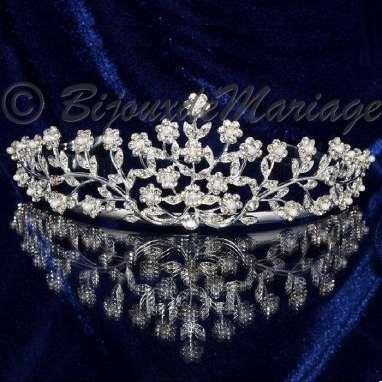 """Cupidon"" diadème mariage cristal et perles - bijouxdemariage.com"