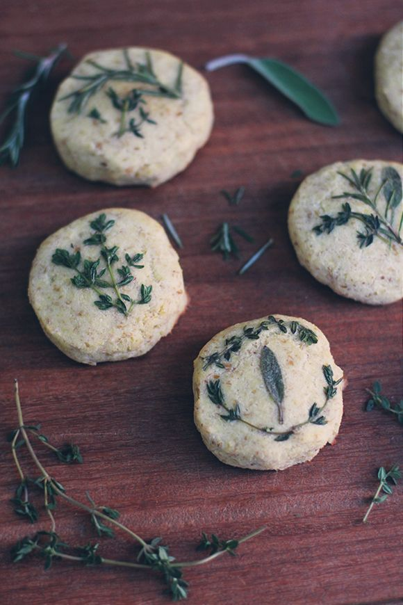 Grain-Free Pressed Herb Biscuits