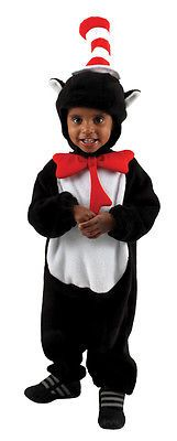 CHILDRENS INFANTS STORYBOOK CAT IN THE HAT FANCY DRESS COSTUMES - 12/18 MONTHS
