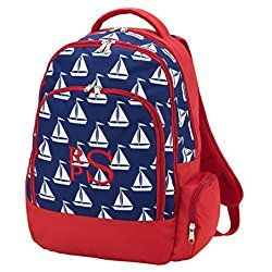 Back to School Backpacks (Personalized, Sailboats)