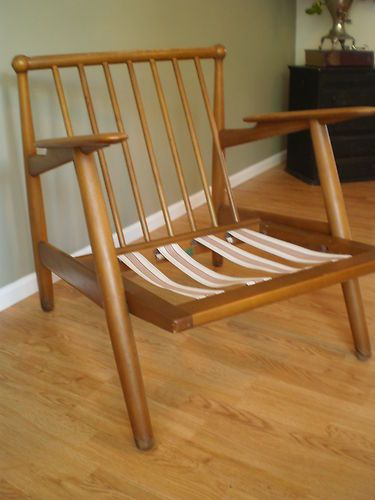 Vintage Mid Century Modern Danish Retro Lounge Chair - he still has a pair  of these