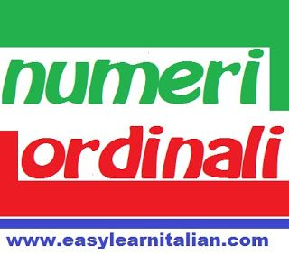 Numeri Ordinali / Ordinal numbers in Italian