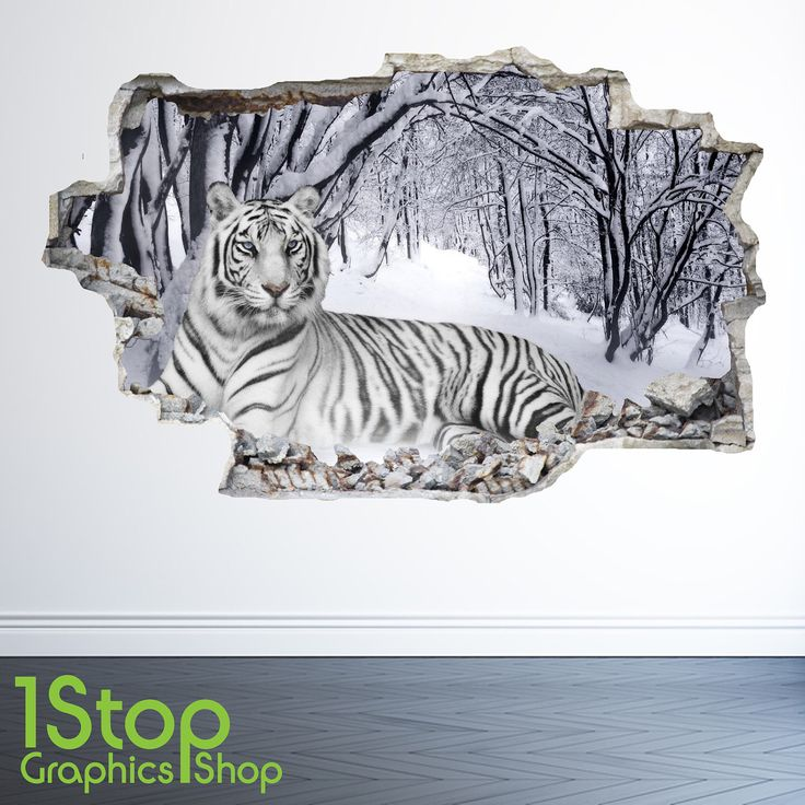 White Tiger Wall Sticker 3d Look - Bedroom Lounge Nature Animal Wall Decal Z26 by 1stopdecalshop on Etsy https://www.etsy.com/uk/listing/494543550/white-tiger-wall-sticker-3d-look-bedroom