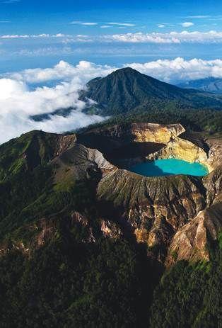 Three Colored Lake Kelimutu - East Nusa Tenggara, Indonesia