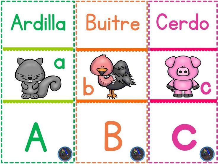 Dominó para jugar y repasar el abecedario, dos tipos de letra - Imagenes Educativas