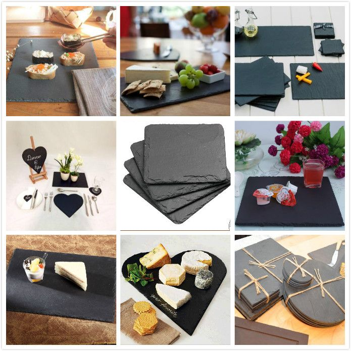 Slate cheese board, factory direct,$0.5-4/pc My mp:+86-15759562022