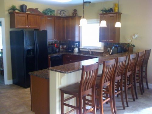 would love to knock down the wall between our kitchen and living room and replace with kitchen island barkitchen
