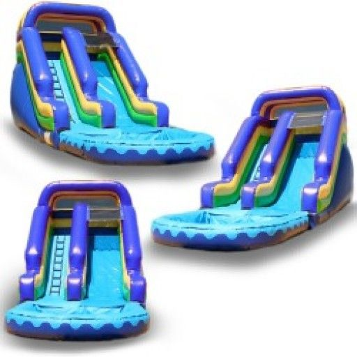 (China Guangzhou) inflatable slides,  inflatable castle Pool slides  TOB-53