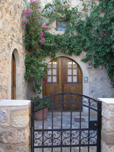 Residence in a medieval seaside town. This doorway is located in Monemvasia, Greece.