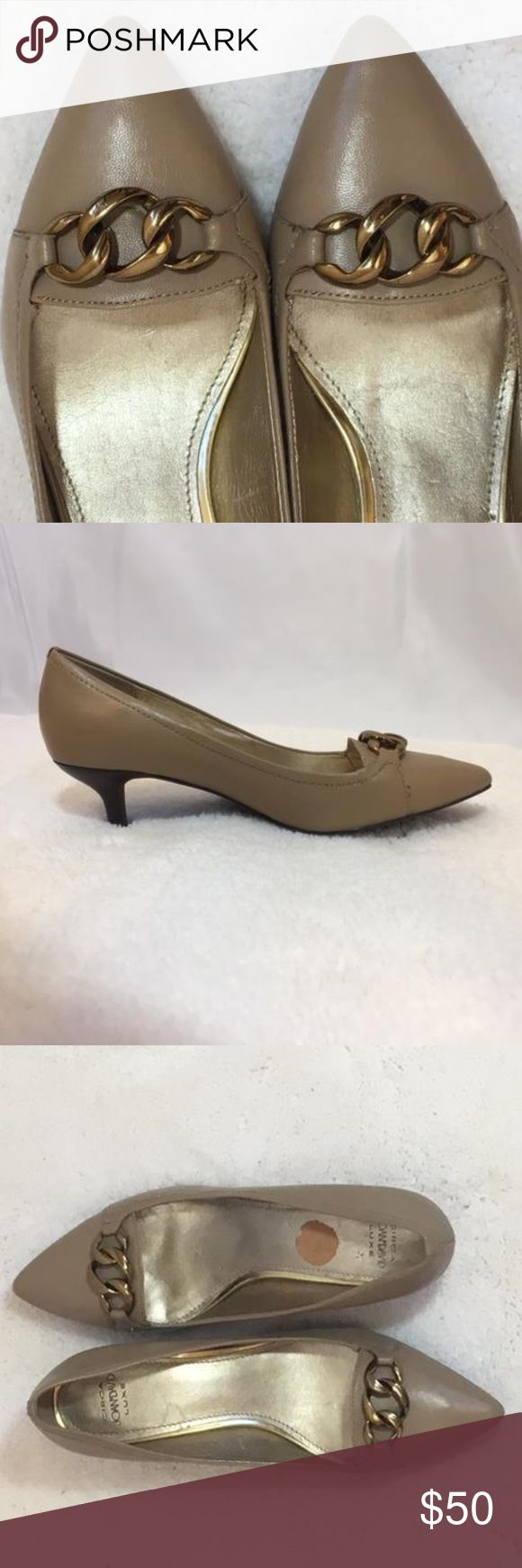 Circa Joan & David Pumps Beautiful and sturdy Joan & David Pumps. Soles and heels are in excellent condition. Outside of shoes are also in excellent condition. Leather upper and synthetic lining.  Size: 7M Joan & David Shoes Heels