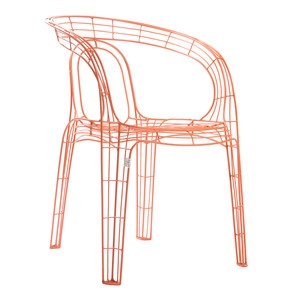 Wire Armchair Orange, £119, now featured on Fab.