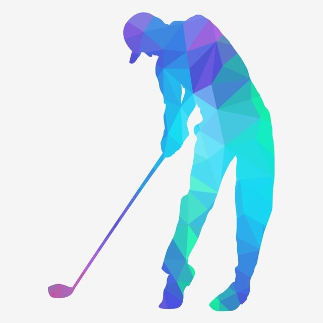 Golf Player Hits The Ball With Low Poly Style Lowpoly Golf Sport Png And Vector With Transparent Background For Free Download Modern Poster Graphic Design Background Templates Golf Player