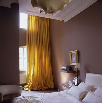 Long Yellow Curtains