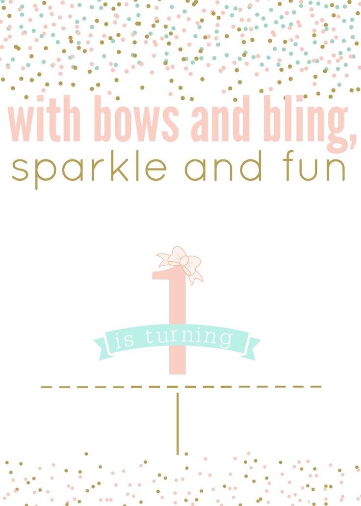 Tattered and Inked: Pink & Gold First Birthday {FREE| Printables!