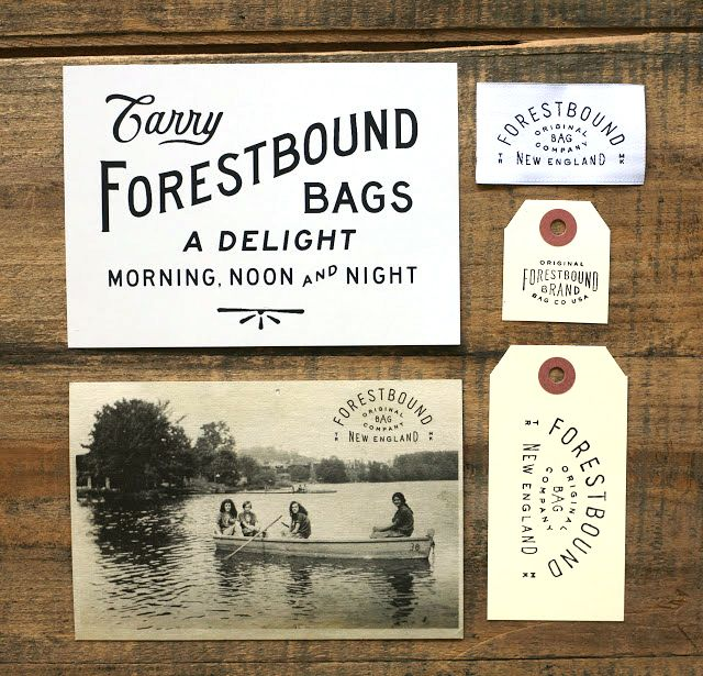 :: Forestbound branding :: P&P: historically inspired, but looks modern and fashionable.