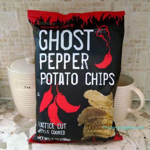 Trader Joe's Ghost Chili Lattice Cut Potato Chips 198g $2.29 トレーダージョーズ ゴーストチリ ラティスカット ポテトチップス