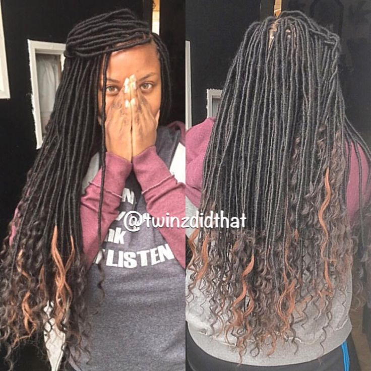 """42 Likes, 3 Comments - H A I R • B R A I D I N G (@twinzdidthat) on Instagram: """"Style: Imitation Goddess Faux Locs Products Used: @milkyway_hair Freetress hair to braid & Cuban…"""""""