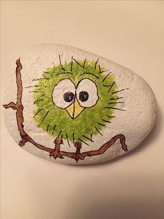 Vogel gemalter Felsen #Birdpaintedrock #paintedrock   – Rock Kunst