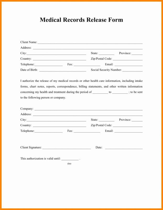 Generic Medical Records Release Form Best Of Generic Medical