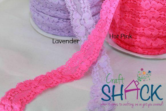"""1"""" Stretch Lace (5yd pk) - Craft Shack"""