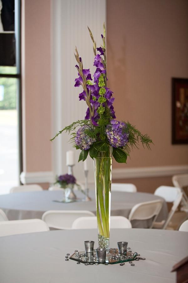 Best purple centerpieces images on pinterest table
