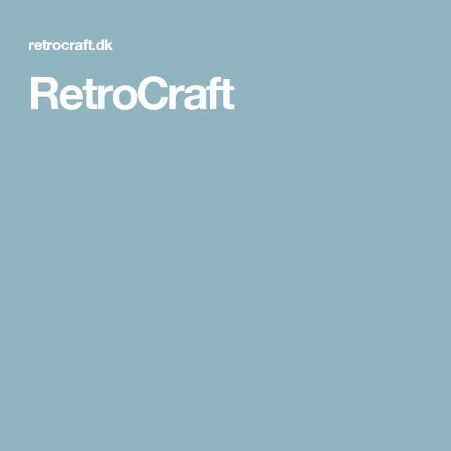 RetroCraft - håndbogbinder