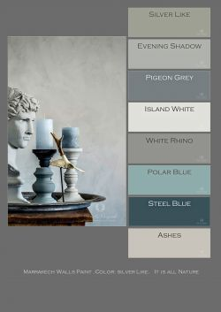 Marrakech Walls Paint.Color: Silver Like. by Pure & Original Cred: D.Ceulemans
