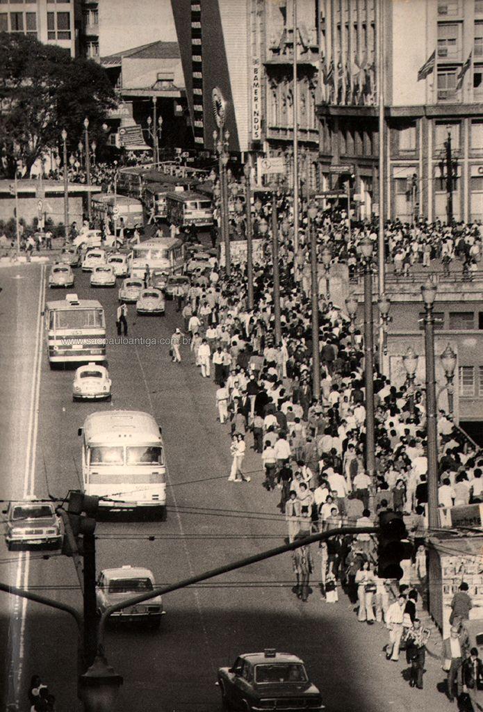 Viaduto do Chá in 1978 - Sao Paulo, Brazil