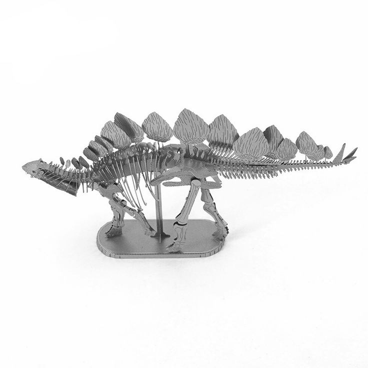 3D Metal Puzzle - Stegosaurus Skeleton Dinosaur Model - Pick Pay Post