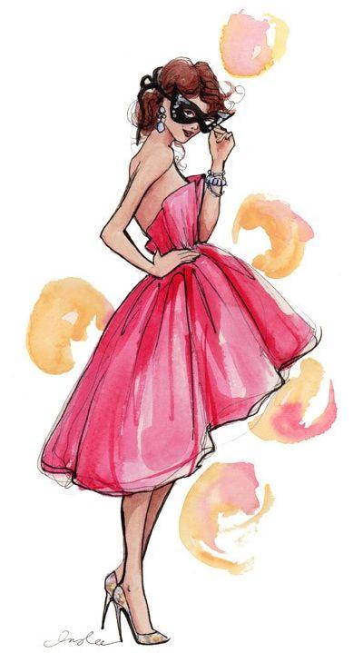 cute drawing of a dress I would definitely wear!