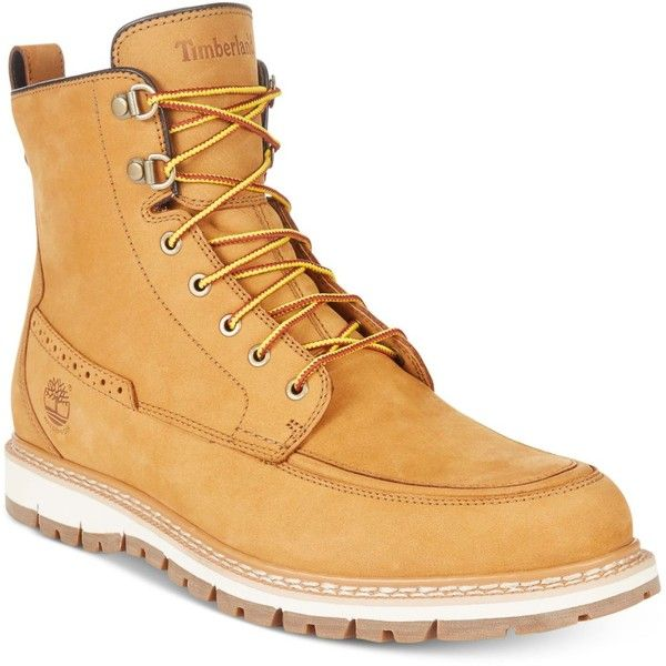 Timberland Men's Britton Hill Waterproof Nubuck Boots ($200) ❤ liked on Polyvore featuring men's fashion, men's shoes, men's boots, wheat, timberland mens boots, timberland mens shoes, mens shoes, mens boots and mens water proof boots