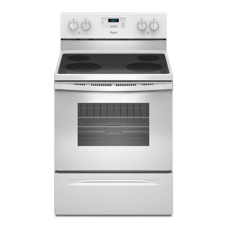 Shop Whirlpool Smooth Surface Freestanding 4 8 Cu Ft